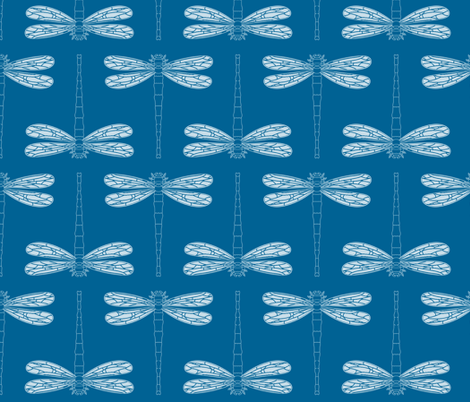 dragonfly in mykonos blue fabric by chantae on Spoonflower - custom fabric