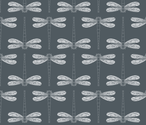 dragonfly in turbulence fabric by chantae on Spoonflower - custom fabric