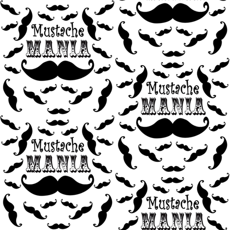 mustache mania fabric by krs_expressions on Spoonflower - custom fabric