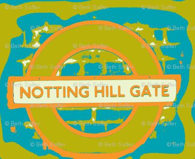 Notting Hill Aqua Orange Chartreuse