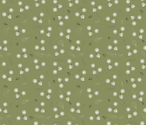 Celery_Green_Cranes fabric by designergena on Spoonflower - custom fabric