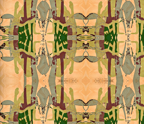"""Ardha Matsyendrasana, Half Lord Of The Fish"" fabric by elizabethvitale on Spoonflower - custom fabric"
