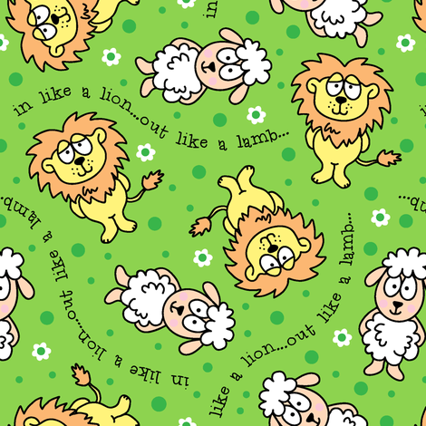 In Like A Lion...Out Like A Lamb fabric by holladaydesigns on Spoonflower - custom fabric