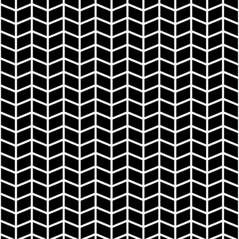 black + white herringbone fabric by misstiina on Spoonflower - custom fabric