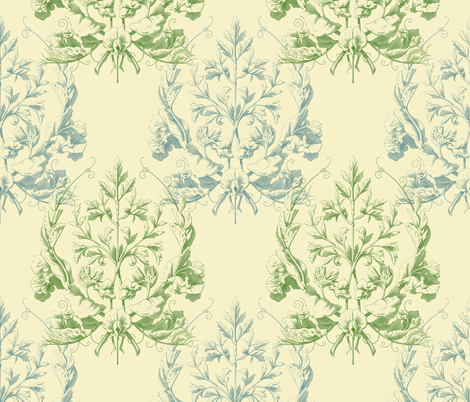 Floral Damask ~ Provencal  fabric by peacoquettedesigns on Spoonflower - custom fabric