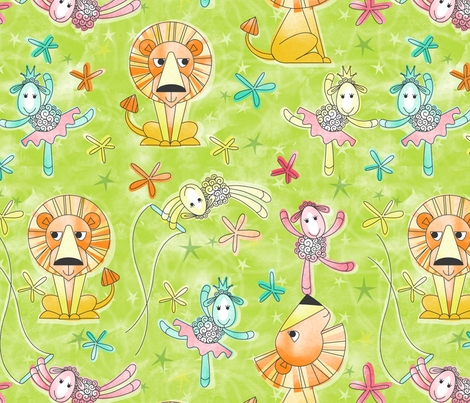 Cirque du lamb chop fabric by cjldesigns on Spoonflower - custom fabric