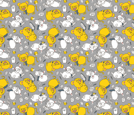 Brian the Lion and Sam the Lamb are here to do your taxes fabric by mongiesama on Spoonflower - custom fabric