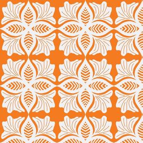 lace on orange