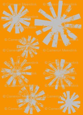 Starburst-gray on orange