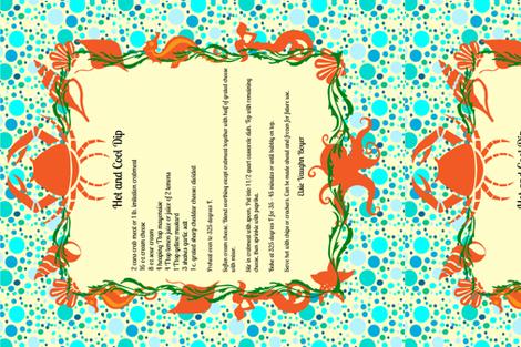 Tea_Towel_Crab_Dip fabric by kfrogb on Spoonflower - custom fabric