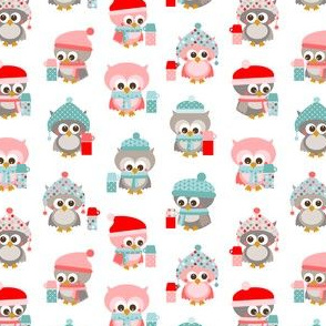 Winter owls scattered