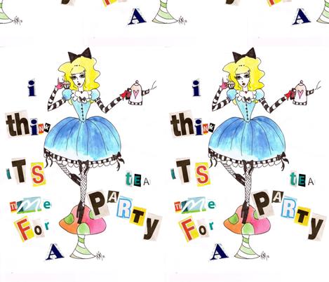 alice_teaparty fabric by scary_kerri on Spoonflower - custom fabric