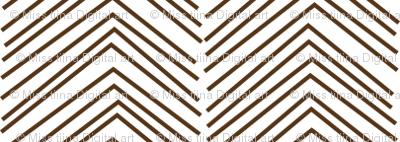 chevron love brown