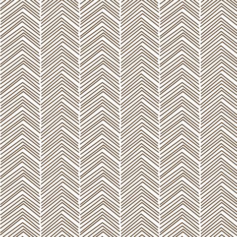 chevron love brown fabric by misstiina on Spoonflower - custom fabric
