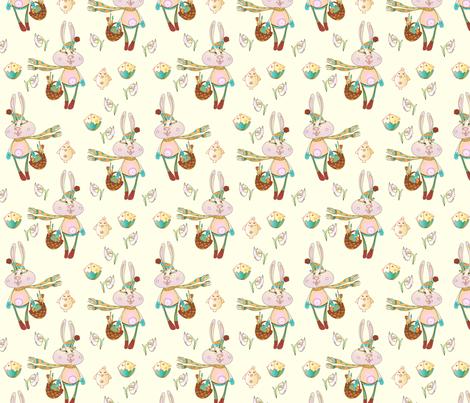 seamless easter pattern fabric by abbilder on Spoonflower - custom fabric