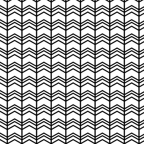 black + white chevron zigzags vertical fabric by misstiina on Spoonflower - custom fabric