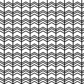 black + white chevron zigzags vertical