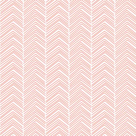 chevron love peach fabric by misstiina on Spoonflower - custom fabric