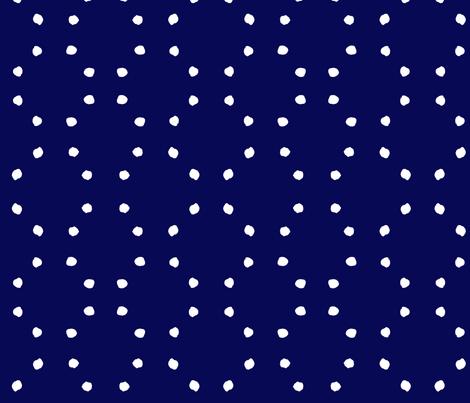 cestlaviv_indigo dots fabric by cest_la_viv on Spoonflower - custom fabric