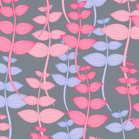 My leaves garden.  fabric by juliagrifol on Spoonflower - custom fabric