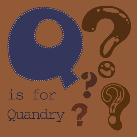Q is for Quandry fabric by phantomssiren on Spoonflower - custom fabric