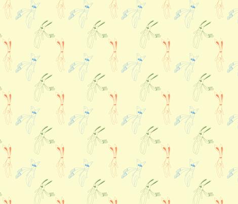 pattern with rabbit,cat fabric by abbilder on Spoonflower - custom fabric