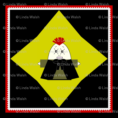 Devilish Cousin Andy Hawk Square Fabric