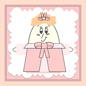 Penelope Pinhead Hawk Square Fabric