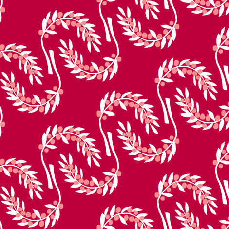 Red Berry Stripe fabric by pond_ripple on Spoonflower - custom fabric