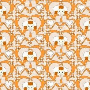 Tangerine Lilly Hawk Square Fabric