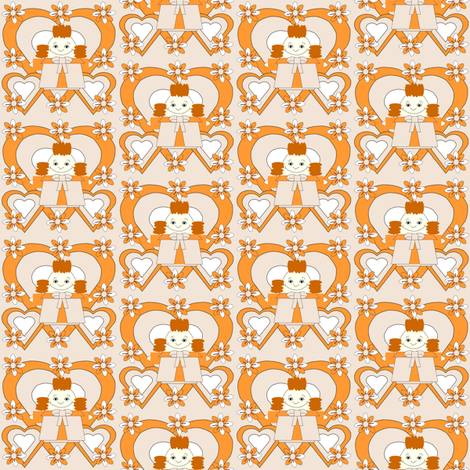 Tangerine Lilly Hawk Square Fabric fabric by lworiginals on Spoonflower - custom fabric