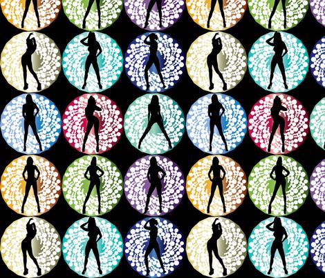 Bond girls fabric by kociara on Spoonflower - custom fabric