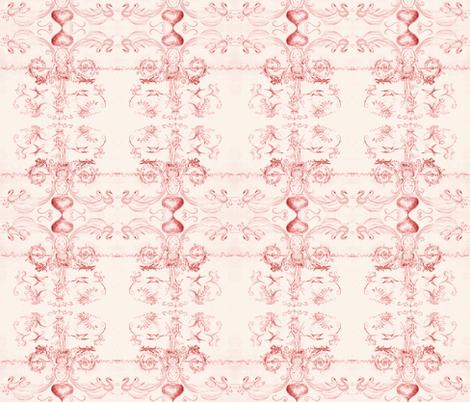 angel_2013-red fabric by mjw23 on Spoonflower - custom fabric