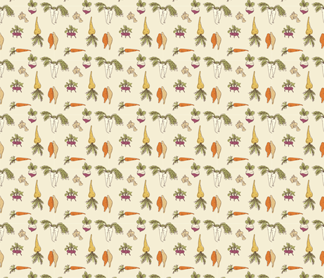 root-veggies fabric by songbirdesign on Spoonflower - custom fabric