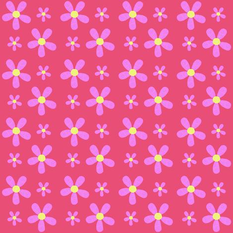 Purple Flower Power fabric by taramcgowan on Spoonflower - custom fabric