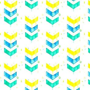 Chevron Watercolor Pattern
