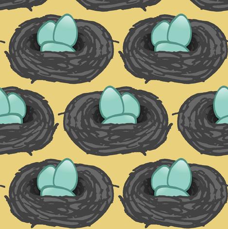Robin's Nest  fabric by pond_ripple on Spoonflower - custom fabric