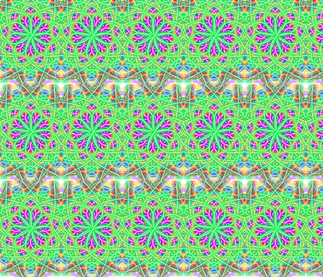 spinning purple and green ; fabric by jellybeanquilter on Spoonflower - custom fabric