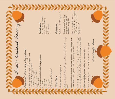 Tea_Towel_Naomis_Cornbread_Dressing fabric by kfrogb on Spoonflower - custom fabric