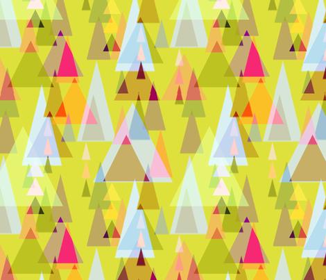 Triangle forest fabric by keweenawchris on Spoonflower - custom fabric