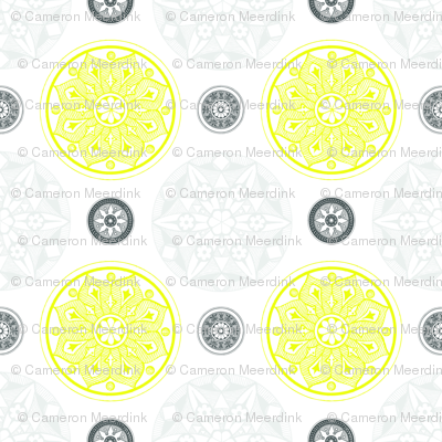 Medallion fabric - white background