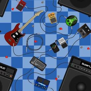 Garage Band Checker Blue
