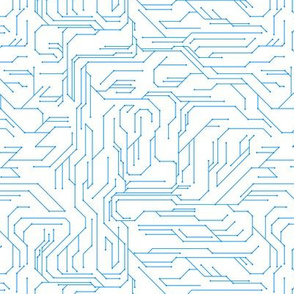 Circuit Board Reverse Blue