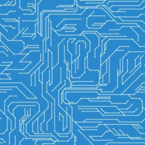 Circuit Board Blue
