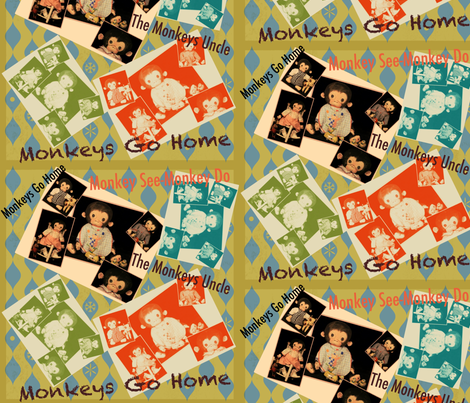 Monkeys Go Home  fabric by janshackelford on Spoonflower - custom fabric