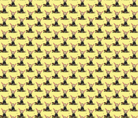 Yellow Bunny McAvoy  fabric by janshackelford on Spoonflower - custom fabric