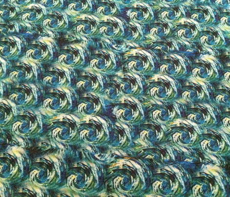 Van Gogh Starry Night Swirls {Smaller Coordinating Pattern}