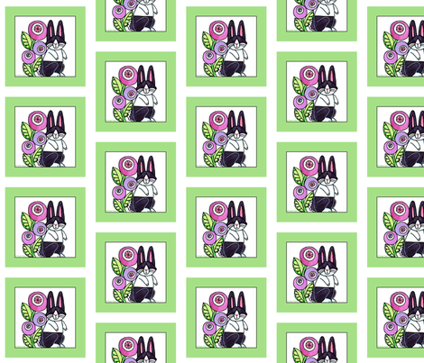 Dutch Rabbit Quilt Square, Bunny C fabric by susanfaye on Spoonflower - custom fabric