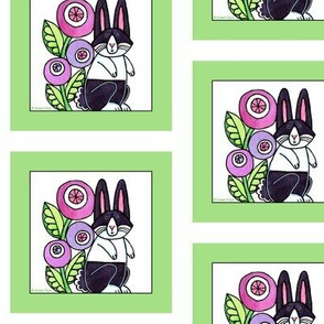Dutch Rabbit Quilt Square, Bunny C