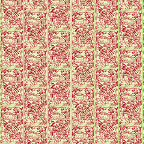 Everyman's Rose Calico fabric by amyvail on Spoonflower - custom fabric